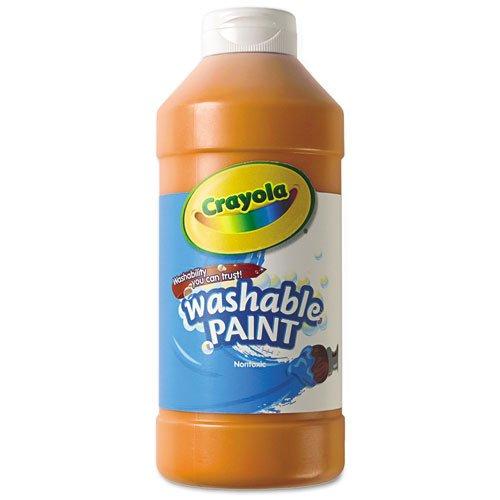 (Crayola; Washable Paint, Orange; Art Tools; 16-Ounce Plastic Squeeze Bottle, Bright, Bold Color )