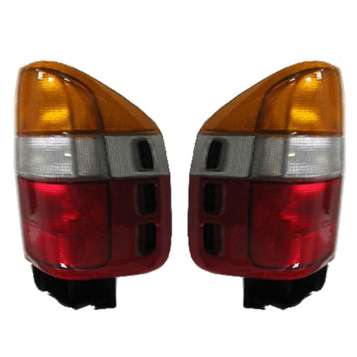 Passport Tail Light Lamp - 1998-2002 Honda Passport & 1998-1999 Isuzu Amigo & Rodeo Taillight Taillamp Rear Brake Tail Light Lamp Pair Set Right Passenger AND Left Driver Side (1998 98 1999 99 2000 00 2001 01 2002 02)