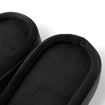 Amazon.com | Aerusi Faux Fur Fluffy Plush Single Strap Flat Open Toe Slide On Slipper Sandals | Slippers