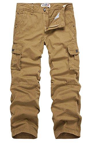 [해외]K 핫! 새로운 망 코튼 지퍼 스트레이트 캐주얼화물 바지/K3K Hot! New Mens Cotton Zipper Straight Casual Cargo Pants