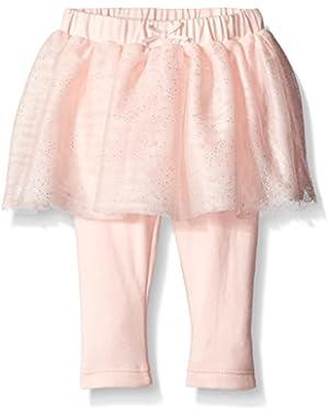 Baby-Girls' Pink Tulle Skirt Legging