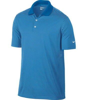 Nike Mens Dri-FIT Victory Stripe Polo Small Photo Blue//White
