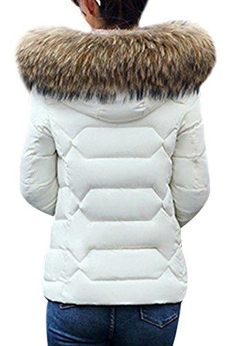 Con 02 Con Disposizione Vendite D'inverno Yming Bianco Pelliccia Donne Caldo Della Calde Delle La Cappuccio Corto Piumino 8xOanvO
