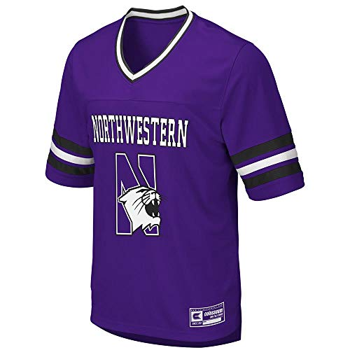 Northwestern Cycling Jersey - Colosseum Mens Northwestern Wildcats Football Jersey - L