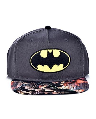 DC Comics The Joker Hahaha Batman Logo Sublimated Bill Snapback (Youth, Youth - Gray) (Dc Hat For Boys)