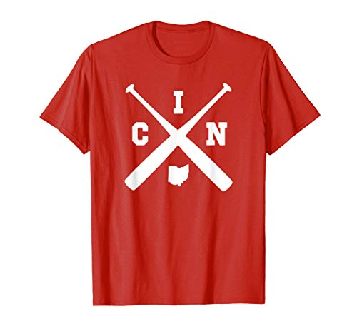 Vintage Cincinnati Baseball Bats Ohio State Outline Shirt ()
