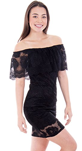 Rose Lace Off-Shoulder Bodycon Minidress