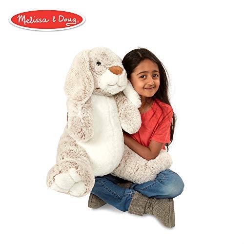 (Melissa & Doug Jumbo Burrow Bunny Rabbit Stuffed Animal (21