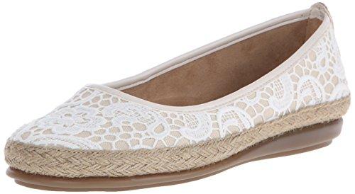 UPC 885833017506, A2 By Aerosoles Women's Rock Solid Fabric  Flat, White Fabric, 6 W US