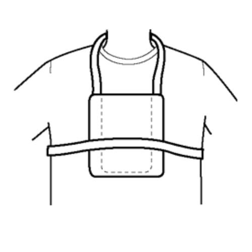 Halyard Health 71825 Telemetry Unit Pouch, Universal (Pack of 4)