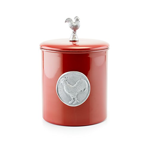 (Old Dutch Rooster Cookie Jar, 4 quart, Red)