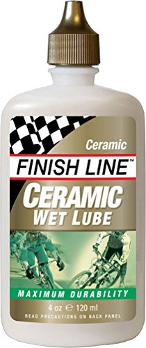 Finish Line Ceramic WET Bicycle Chain Lube, 4-Ounce Drip Squeeze Bottle