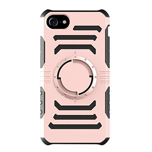 Mobile protection Para el brazalete de múltiples funciones del deporte al aire libre del iPhone 7 con la caja desmontable de la combinación de PC + TPU ( Color : Grey ) Rose gold