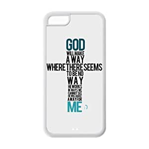 LJF phone case LeonardCustom Durable Protective Hard TPU Rubber Fitted Cover Case for ipod touch 4 , Bible Verse Proverbs