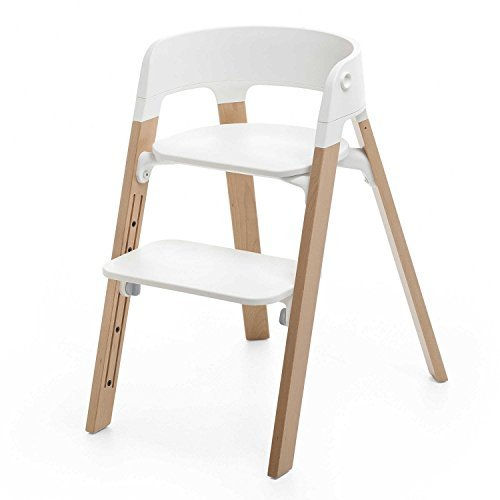 Stokke STEPS High Chair - Natural Legs with White Seat