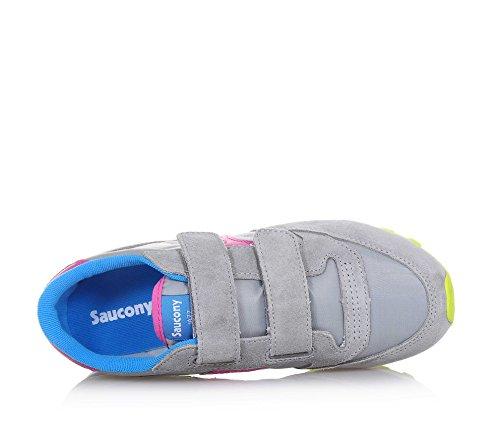SAUCONY SC56453 JAZZ DBLE blau grau pink HL Babyschuhe Rippen Grigio
