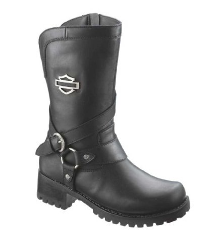 Harley-Davidson Women's Amber Water Resistant Motorcycle Boot ,Black,8 M US