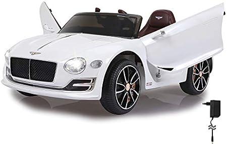 Jamara 460334 - Ride-on Bentley EXP12 12V bianco – 2 Motori potenti, 2 Velocitá, Gomme Ultra-Grip, Avviamento con pulsante, Porte apribili manualmente