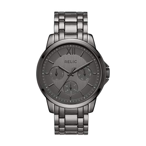Relic by Fossil Men's Charles Quartz Stainless Steel and Metal Dress Watch, Color: Gunmetal (Model: ZR15954)