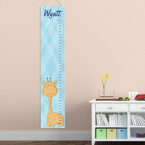 Personalized Baby Boys Giraffe Growth Chart - Personalized Height Chart - Children's Growth Chart - Giraffe Growth Chart by A Gift Personalized