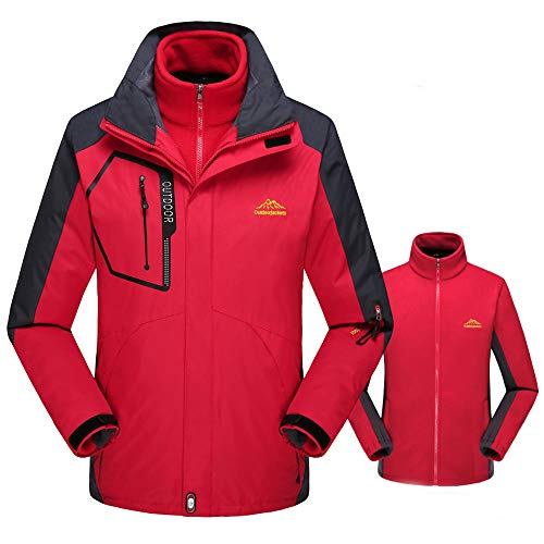 Clearance!Dressin Fleece Two Piece Liner Outdoor Plus Size Hoodie Set Sport Assault Coat Outwear