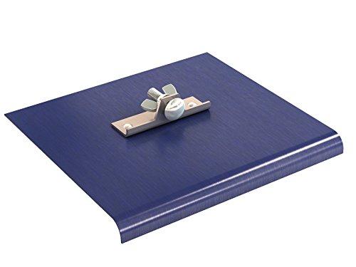 Bon 22-753 Blue Steel Walking Edger, 9-inch x 8-inch, 1/2-inch Radius, 5/8-inch Depth