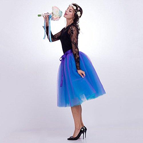 Jupe Jupon 7 LINNUO en Jupe Court Ballet en Tulle Tulle Tutu Couches Dtachable Ceinture 5gfcdqw