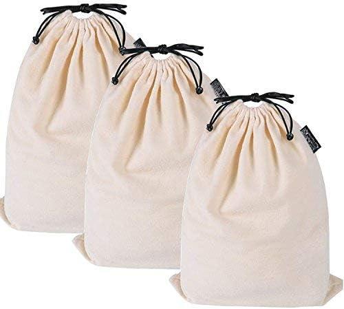 MISSLO Juego de 3 bolsas de algodón transpirables a prueba de ...