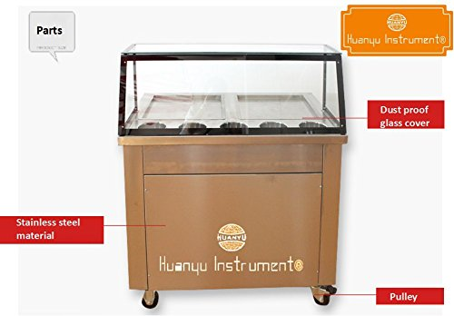 Huanyu Double Square Pans Fried ice Cream Yogurt Machine,Thailand ice Cream...