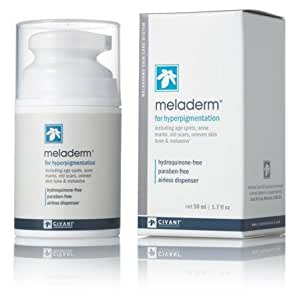 Meladerm 1.7 oz Skin Lightening / Whitening Cream for Hyperpigmentation, Dark Spots, Scars, Discolorations, Uneven Skin Tone