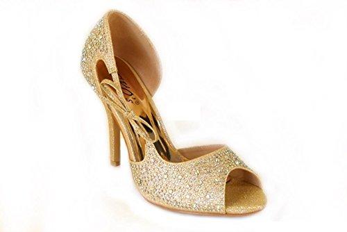 SKO'S - Sandalias de vestir de Material Sintético para mujer Rose Gold (T33-A)