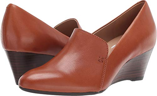 - Aerosoles Women's FULL CIRCLE Pump, dark tan leather, 5 M US