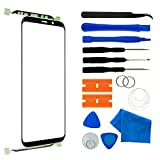 Original Compatible 5.8 inch Samsung Galaxy S9 Front Outer Touch Screen Glass Lens Replacement,Screen Lens Glass Repair Tool Kits SM-G960(Galaxy S9 5.8 inch Black)
