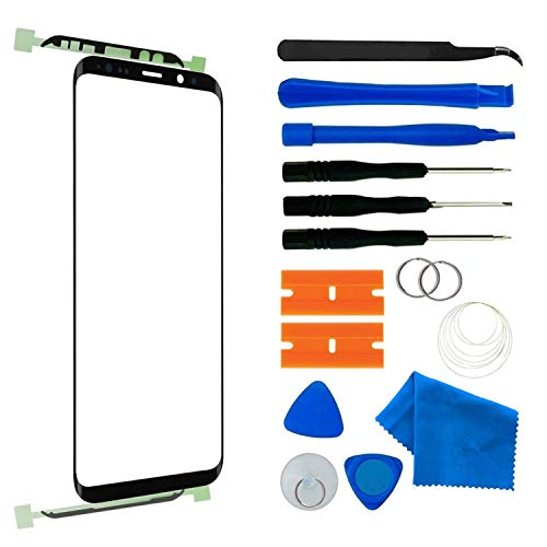- Original Compatible 5.8 inch Samsung Galaxy S9 Front Outer Touch Screen Glass Lens Replacement,Screen Lens Glass Repair Tool Kits SM-G960(Galaxy S9 5.8 inch Black)