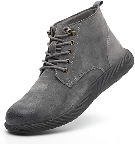 安全靴 ケブラーストラップ耐摩耗性と快適な消臭サイト古い靴、夏の牛肉腱下の超軽量通気性の靴、靴抗スマッシング鋼つま先のキャップ (Color : D, Size : 37)