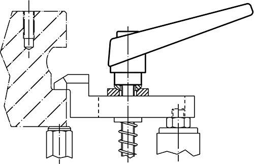 Halder 24400.0171/ajustable Palancas de sujeci/ón D1/= 14/mm//D2/= M6//L1/= 32/mm Naranja