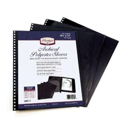 Archival Sleeve Refills - Alvin Prestige Series Archival Polyester Sleeves, Size: 14