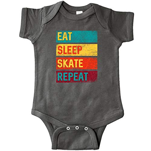 inktastic - Skating Eat Sleep Skate Infant Creeper Newborn Charcoal Grey 344dd (Baby Skate)