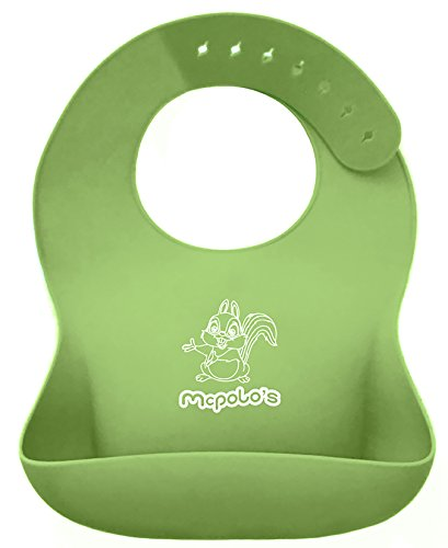 """Price comparison product image McPolo's Cute Baby Squirel iBib, BABYBJÖRN Series - the """"iPhone"""" in Silicone Baby Bib World - Fitting MORE Growing Babies 2 MO to 6 YO Toddlers & PreSchoolers comfortably with Smart Buttons"""