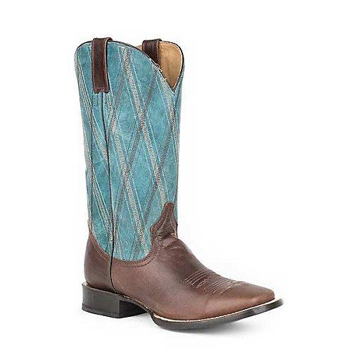 Roper Mens Crosscut Square Toe Blue Boots 9.5