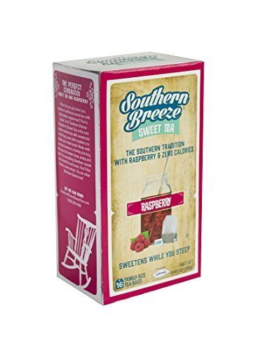 Southern Breeze Sweet Tea, Raspberry, 16 Count (Pack of 6) by Southern Breeze