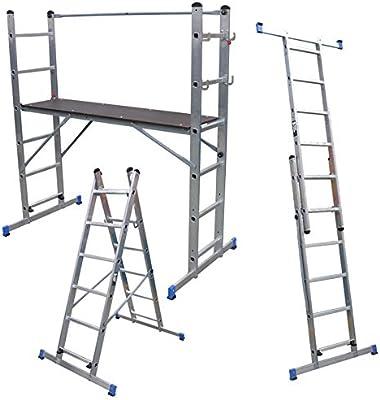 Plataforma multiuso combinación de andamio, escalera y plataforma ...