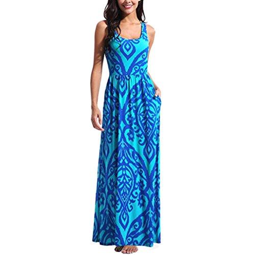 LMMVP cóctel XXL vestido Bohemia larga Maxi B Mujer fiesta K Vestidos verano playa Mujer floral 2018 Verano zO1xnfAqS