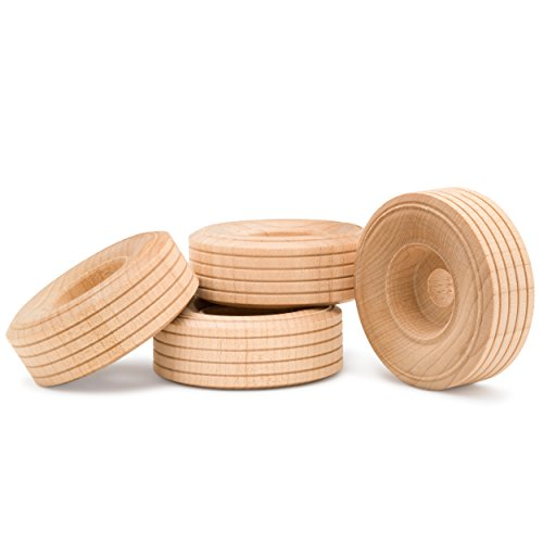 Woodpeckers Wooden Craft Treaded Wheels