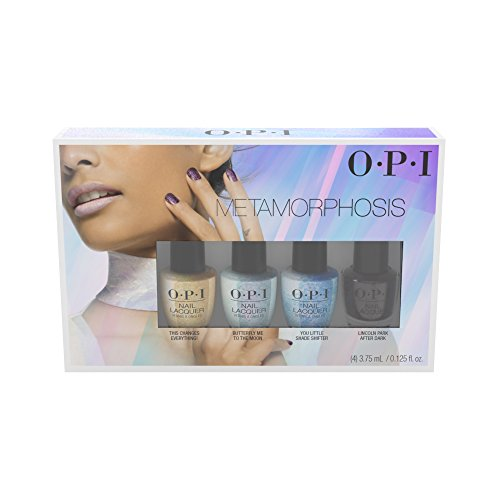 Nail 4 Polish Piece (OPI Metamorphosis 4 Piece Mini Nail Lacquer, No.1, 0.5 Fl Oz)
