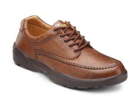 Dr. Comfort Stallion Men's Therapeutic Diabetic Extra Depth Dress Shoe leather lace-up - Chestnut 9.5 Wide (E/2E) US Men