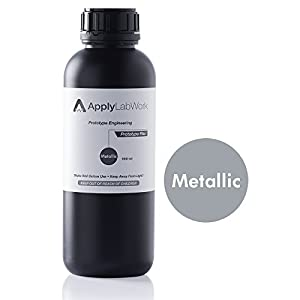 ApplyLabWork PT-F001MT Formlabs Compatible 3D Resin, Prototype Engineering Series, Flex, SLA UV Printing Material, 1 Liter, Metallic by ApplyLabWork