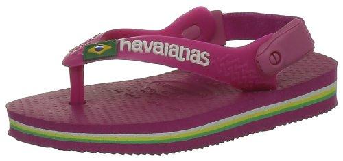 Havaianas Tongs Bebe Brasil Logo Rose Fluo