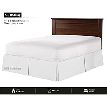 "550 TC Egyptian cotton Bedding 1X Bed Skirt 12"" Inch Drop Queen (60X80"") White Solid"