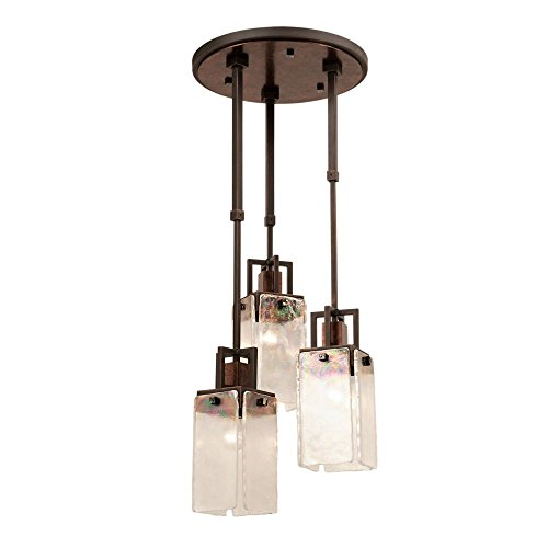 Kalco 2507-2SB/ALAB Bedford 3-Light Foyer with Copper